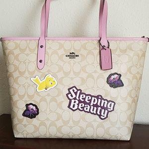 Coach x Disney City Zip Tote Sleeping Beauty